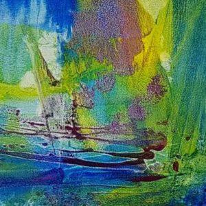 Aquamarine, oil on canvas, 38 x 80 inches